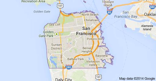 San Francisco, CA - Area Map