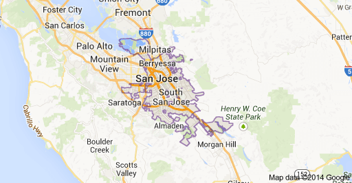 San Jose, CA - Area Map