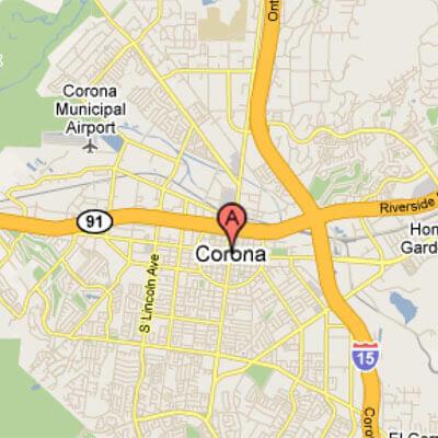 Corona, CA - Area Map