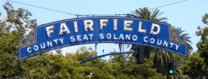 Entrance of Fairfield City in California