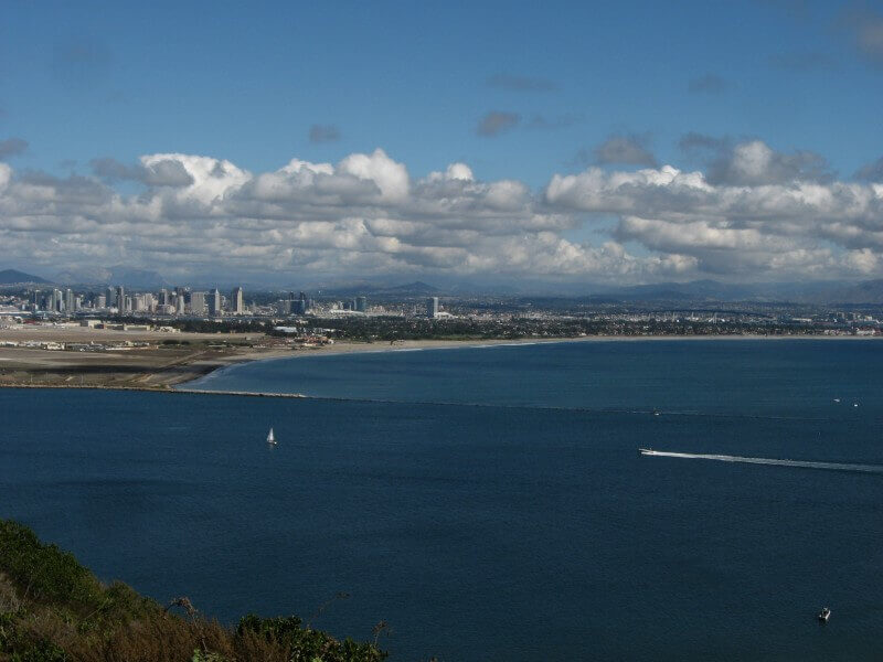 San Diego, CA - Aerial skyline view