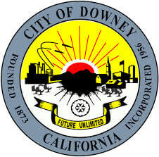 Seal of Downey City in California