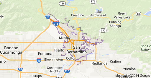 San Bernadino Map