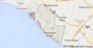Huntington Beach, CA - area map