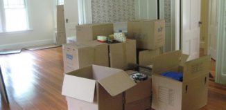Picture of moving in to new home