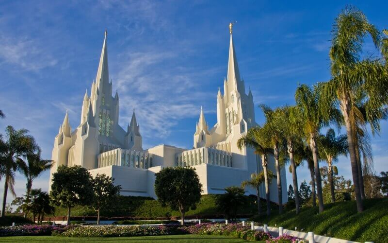 Tourist spot in San Diego the Mormon Temple