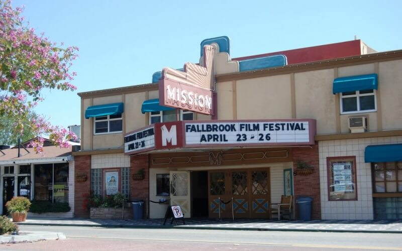 Small theater in Fallbrook in California