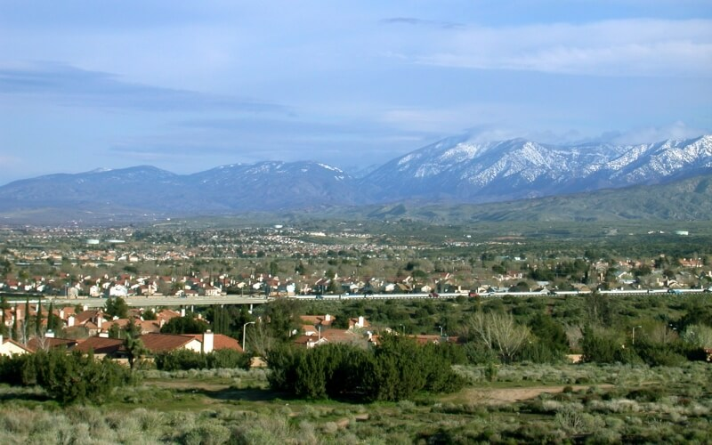 Wide view of Palmdale and Mountains in Diamond Bar