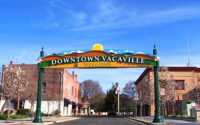 Front gate of Vacaville City California