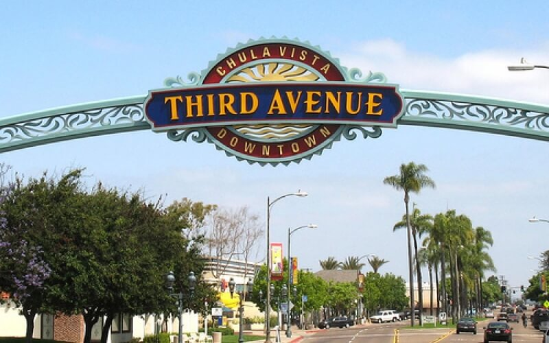 Entrance gate of Chula Vista Third Avenue Downtown