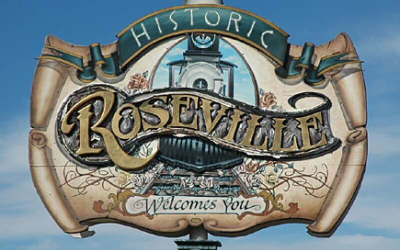 Old logo of Roseville City in California