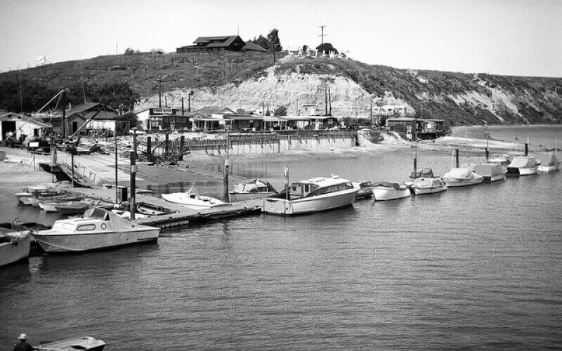 Black and White photo of Newport Beach