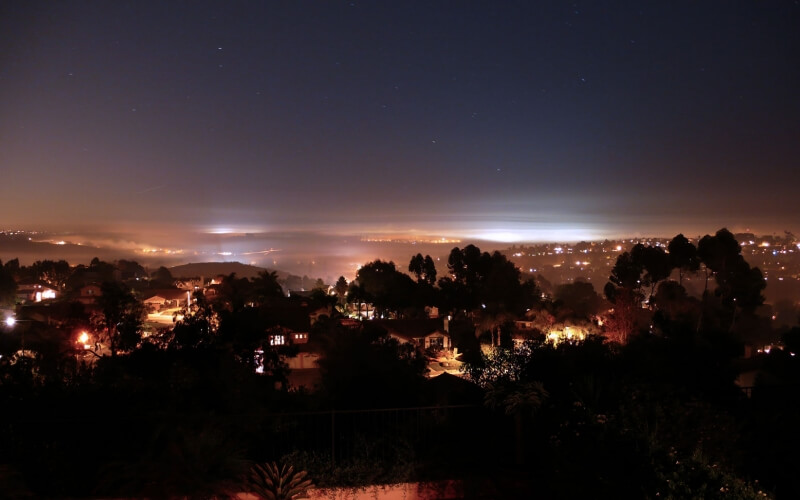 view of carlsbad at night