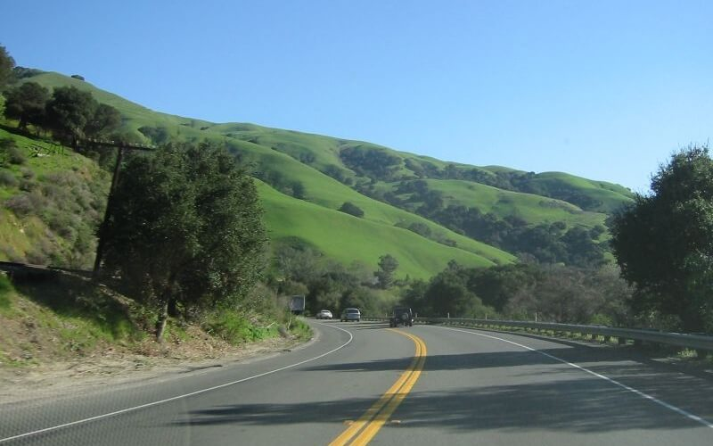 One of the most beautiful hill road at Fremont in California
