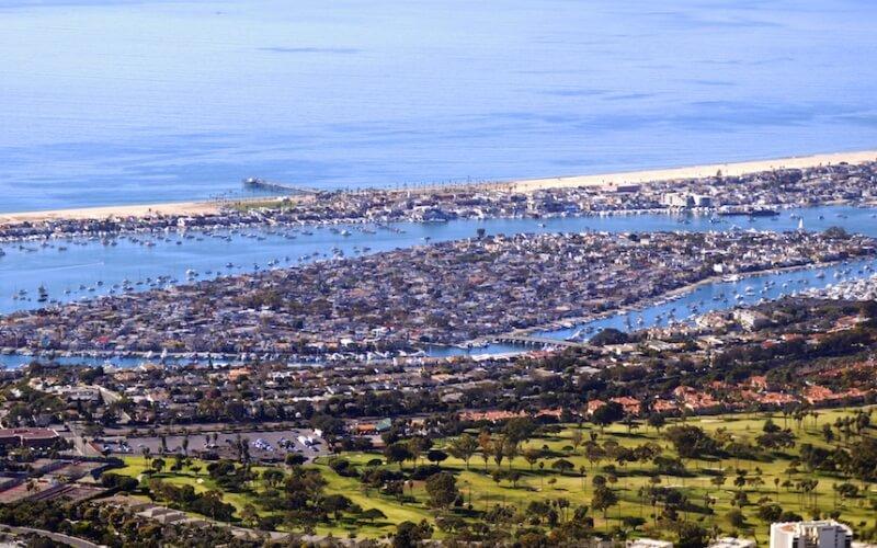 Total view of Balboa Island in California