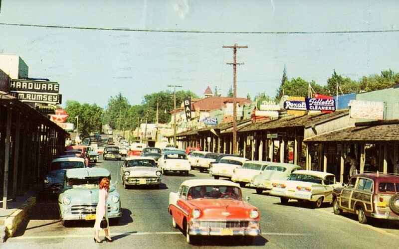 Main street of Folsom in 1980
