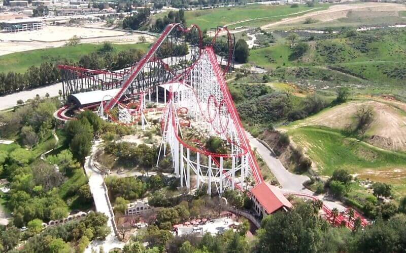 Six flag magic mountain at Santa Clarita in California