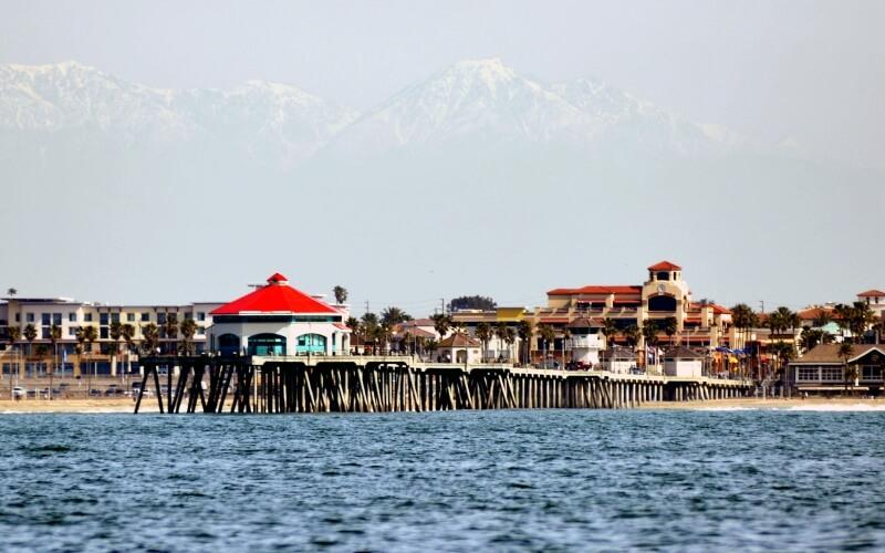 Huntington Beach Pier where tourist visit most