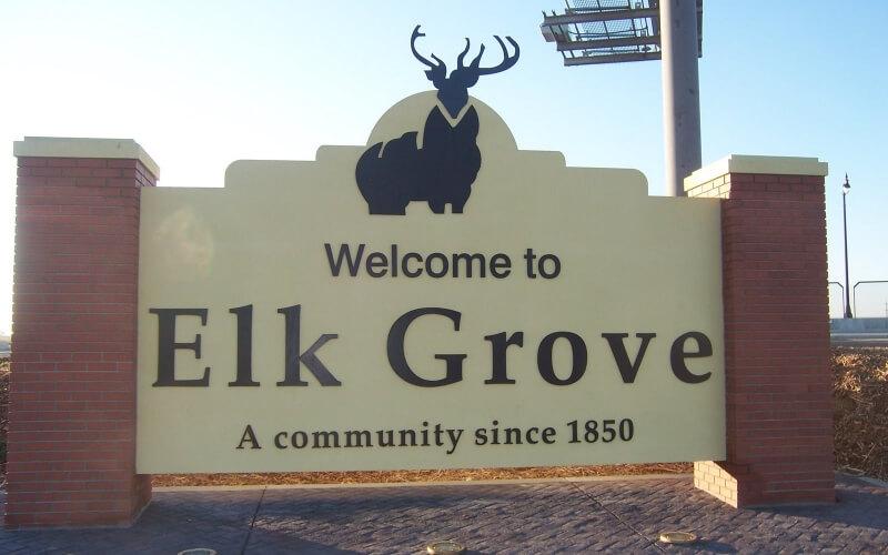 Welcome message board in Elk Grove