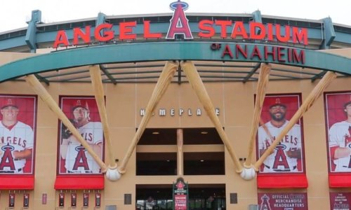 Big stadium in Anaheim, California