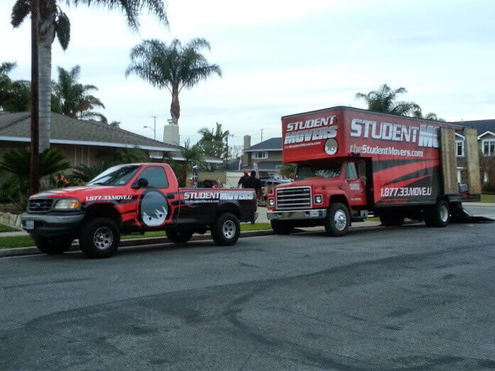 Vehicles used by movers in orange county